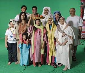 Some of the wonderful Egyptians living in England who joined us to shoot the story of Joseph