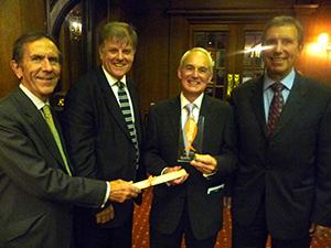 The FBi team - winners of the People's Choice Christian New Media Award. L-R Raphe, Paul, John and Alan